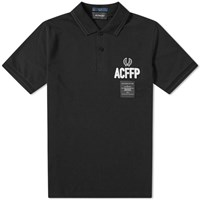 Fred Perry X Art Comes First Embroidered Polo Black