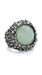 Jules Smith Designs Antique Chunky Stone Ring Silver Blue