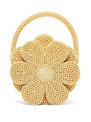 Shrimps Buttercup Faux Pearl Embellished Bag Yellow