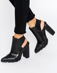 Asos Erwin Elastic Pointed Ankle Boots Black