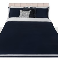 A By Amara Viena Satin Duvet Set Navy White Blue