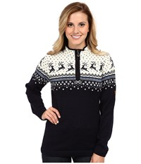 Dale Of Norway Tuva Navy Off White Blue Shadow Women's Sweater Black