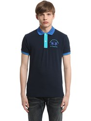La Martina Stretch Cotton Piquet Polo Shirt
