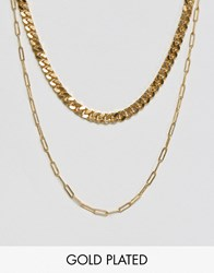 Gogo Philip Double Layered Gold Plated Necklace Gold
