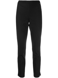 Twin Set Cropped Skinny Trousers Black