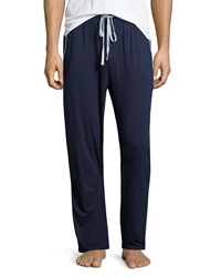 Neiman Marcus Drawstring Knit Lounge Pants Navy