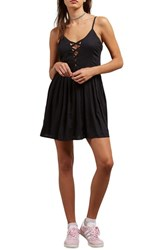 Volcom Cross Paths Sundress Black