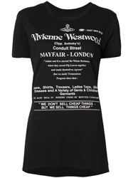 Vivienne Westwood Anglomania Logo Print T Shirt Black