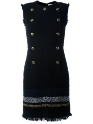 Sonia Rykiel Double Breasted Military Dress Black