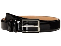 Calvin Klein 25Mm Feather Edge Patent Leather Belt With Harness Roller Buckle And Enamel Fill Black Women's Belts