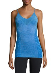 Nanette Lepore Perforated Active Tank Top Blue