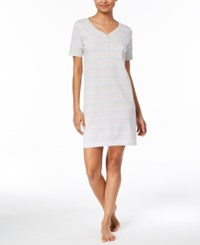 Charter Club Banded Sleepshirt Created For Macy's Variegated Stripe