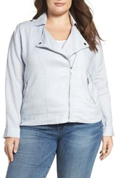 Vince Camuto Plus Size Women's Two By Drapey Linen Moto Jacket
