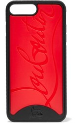 Christian Louboutin Loubiphone Embossed Pvc Iphone 7 And 8 Plus Case Red