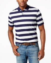 Club Room Rugby Striped Polo Only At Macy's Navy Blue
