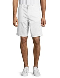 John Varvatos Cotton Blend Solid Shorts White