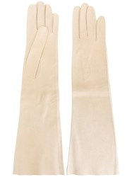 Hermes Vintage Long Gloves Nude Neutrals