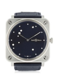 Bell And Ross Brs S Diamond Eagle Steel Watch Blue