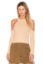 Bardot Cold Shoulder Knit Tan