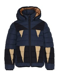 Molo Monster Hooded Puffer Jacket Navy