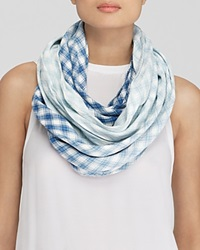 Dkny Ombre Check Infinity Scarf Bloomingdale's Exclusive Indigo White