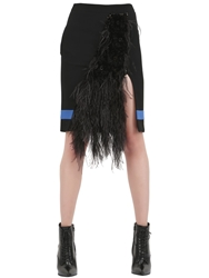 Ungaro Embellished Cady Skirt Black