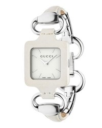 Gucci 1921 Stainless Steel And Leather Bracelet Watch White