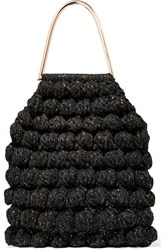 Ulla Johnson Barranco Crocheted Cotton And Lurex Blend Tote Black