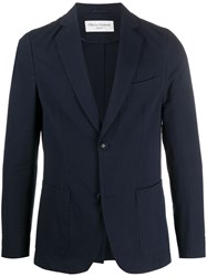 Officine Generale Fitted Single Breasted Blazer 60