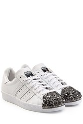 Adidas Originals Leather Superstar 80S Leather Sneakers White