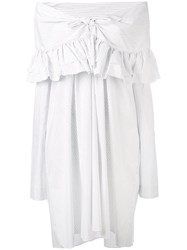 Isa Arfen 'Sailor' Dress Women Silk Cotton Linen Flax 8 White