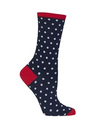 Hot Sox Holiday Polka Dot Socks Dark Navy