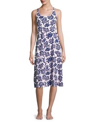 Lord And Taylor Racerback Rose Print Sleep Gown