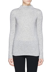 The Row 'Andra' Cashmere Silk High Collar Sweater Grey