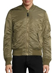 Alpha Industries Nylon Flight Jacket Maroon Vintage Olive Black