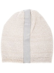 Inverni Slouchy Knit Beanie Nude And Neutrals