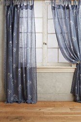 Anthropologie Gleaming Elora Curtain Blue