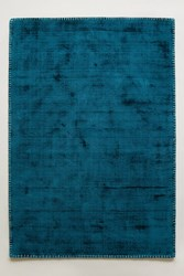 Anthropologie Whipstitch Rug Dark Turquoise