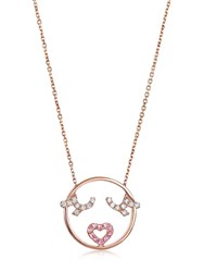 Ruifier Moyen Flutter Eyes Gold Necklace Rose Gold