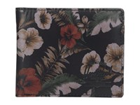 Herschel Hank Leather Hawaiian Camo Leather Wallet Handbags Black