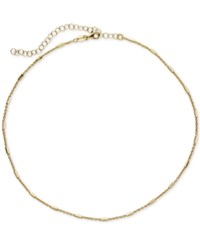 Giani Bernini Polished Bar Chain Choker Necklace Only At Macy's Gold