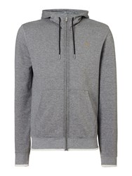 Farah Men's Hicks Zip Up Hoodied Sweat Top Grey Marl