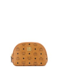 Heritage Line Cosmetics Pouch Cognac Red Mcm