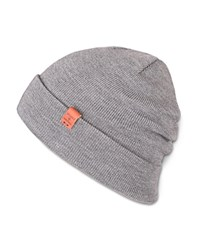 Bickley And Mitchell Merino Wool Turncuff Beanie Grey