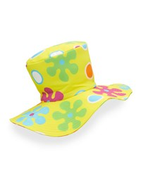Moschino Floral Floppy Top Hat Yellow