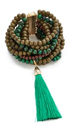 Rosantica Etna Bracelet Green Tiger's Eye Dark Green