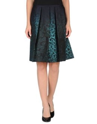 Aquilano Rimondi Knee Length Skirts Deep Jade