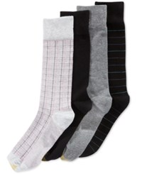 Gold Toe Men's Tattersall Plaid Dress Socks 4 Pack Pack C
