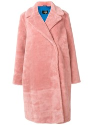 Stine Goya Faux Fur Coat Pink And Purple