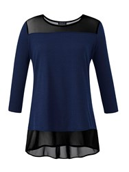 Grace Tunic With Mesh Navy